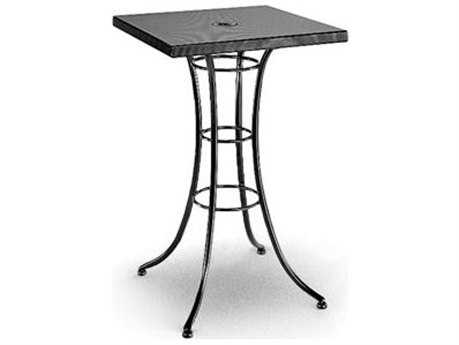 Homecrest Embossed Aluminum 30 Square Bar Table with Umbrella Hole