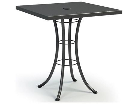 Homecrest Embossed Aluminum 36 Square Bar Table with Umbrella Hole