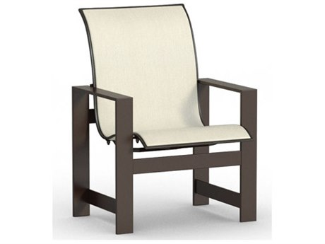 Homecrest Grace Aluminum Sling Low Back Dining Arm Chair