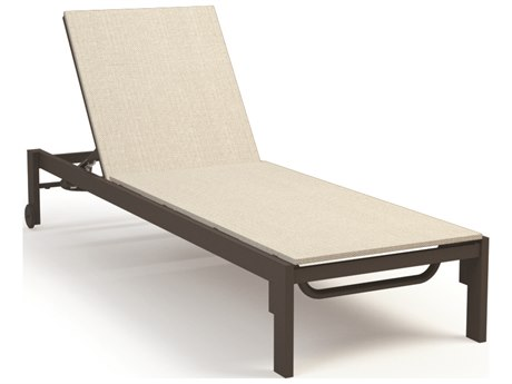 Homecrest Allure Aluminum Sling Adjustable Chaise Lounge with Wheels