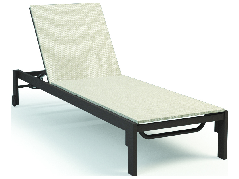 Homecrest allure aluminum sling armless adjustable chaise for Aluminum chaise lounge with wheels