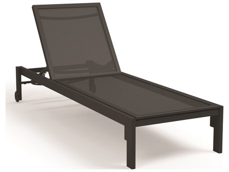 Homecrest Allure Mesh Aluminum Chaise with Wheels
