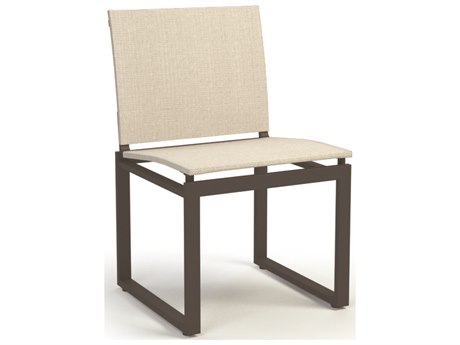 Homecrest Allure Aluminum Sling Armless Cafe Chair