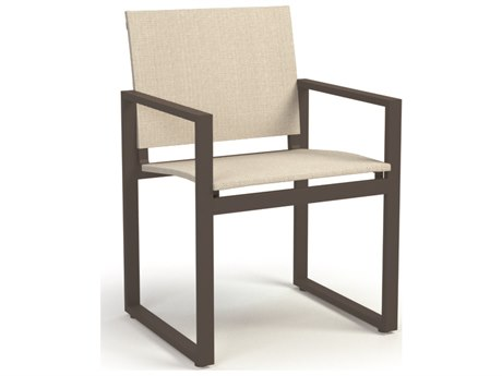 Homecrest Allure Aluminum Sling Dining Arm Chair