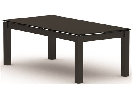 Homecrest Mode Aluminum 44 x 22 Rectangular Coffee Table