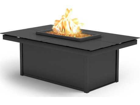 Homecrest Mode Aluminum 52 x 32 Rectangular Coffee Fire Pit Table
