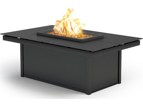 Homecrest Mode Aluminum 52''W x 32''D Rectangular Coffee Fire Pit Table