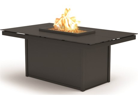 Homecrest Mode Aluminum 60 x 36 Chat Fire Pit Table