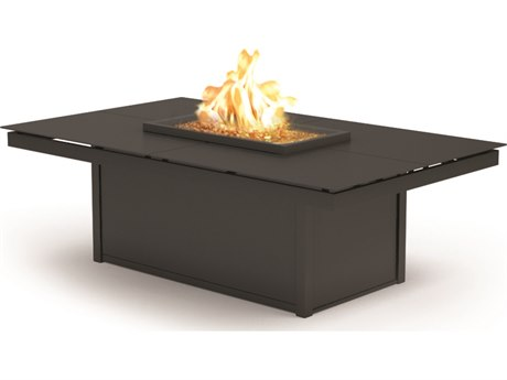 Homecrest Mode Aluminum 60''W x 36''D Rectangular Coffee Fire Pit Table PatioLiving