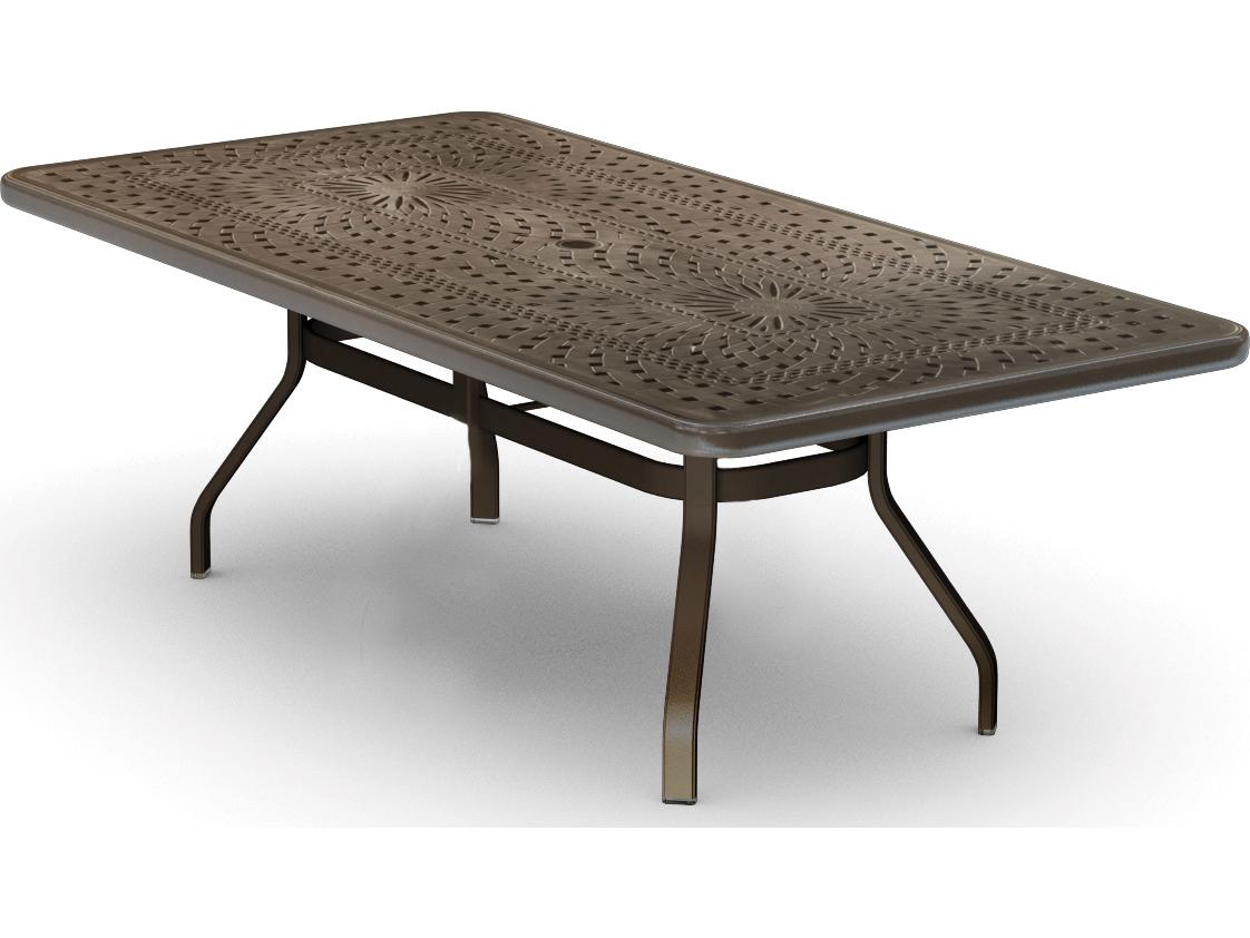 Patio Tables Dining: Homecrest Camden Cast Aluminum 84 X 42 Rectangular Dining