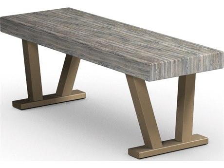 Homecrest Atlas Aluminum 44 x 15 Rectangular Bench