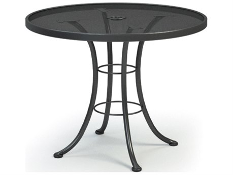 Homecrest Mesh Aluminum 36 Round Bistro Table with Umbrella Hole