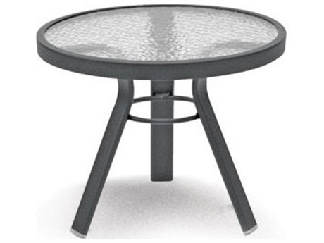 Homecrest Glass Aluminum 21 Round End Table