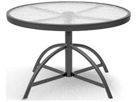 Homecrest Glass Aluminum 30 Round Dining Table