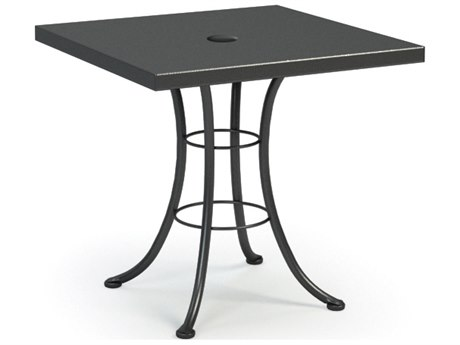 Homecrest Embossed Aluminum 30 Square Bistro Table with Umbrella Hole