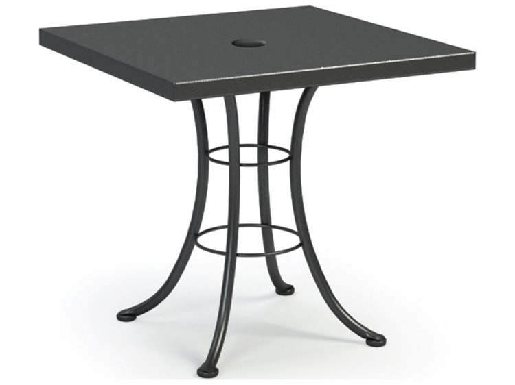 Homecrest embossed aluminum 30 square bistro table with umbrella homecrest embossed aluminum 30 square bistro table with umbrella hole 19111 watchthetrailerfo