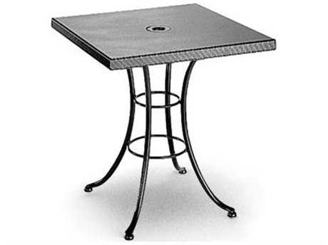 Homecrest Embossed Aluminum 36 Square Bistro Table with Umbrella Hole
