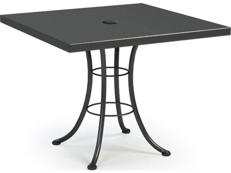 Homecrest embossed aluminum 36 square bistro table with umbrella homecrest embossed aluminum 36 square bistro table with umbrella hole 19115 watchthetrailerfo