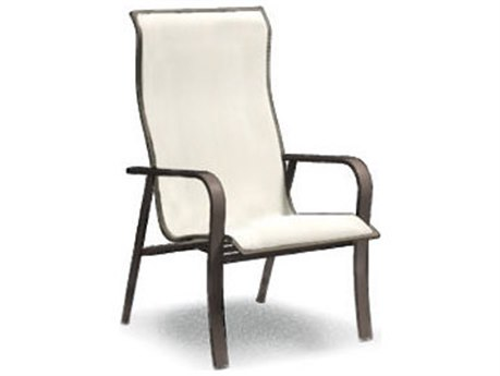 Homecrest Kashton Sling Aluminum High Back Dining Arm Chair