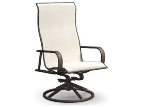 Homecrest Kashton Sling Aluminum Swivel Rocker Dining Arm Chair