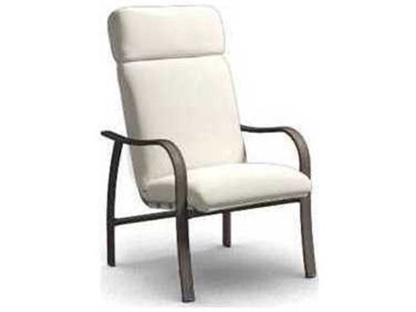 Homecrest Holly Hill Cushion Aluminum High Back Dining Chair