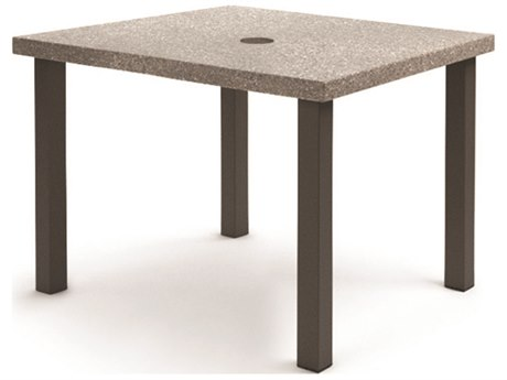 Homecrest Stonegate Aluminum 42'' Wide Square Counter Table with Umbrella Hole