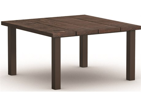Homecrest Timber Aluminum 48'' Wide Square Dining Table
