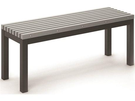 Homecrest Eden Aluminum 48''W x 15.5''D Slat Dining Bench
