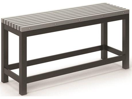 Eden Aluminum 48''W x 15.5''D Slat Counter Bench