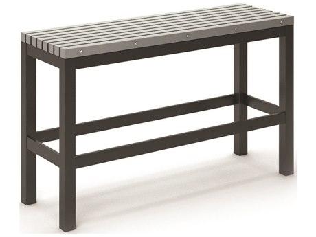 Homecrest Eden Aluminum 48''W x 15.5''D Slat Bar Bench