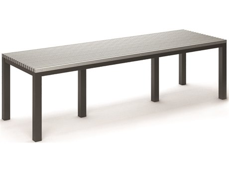 Homecrest Eden Aluminum 110''W x 35.5''D Rectangular Dining Table HC2630110