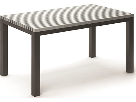 Homecrest Eden Aluminum 60''W x 35.5''D Rectangular Dining Table HC263060