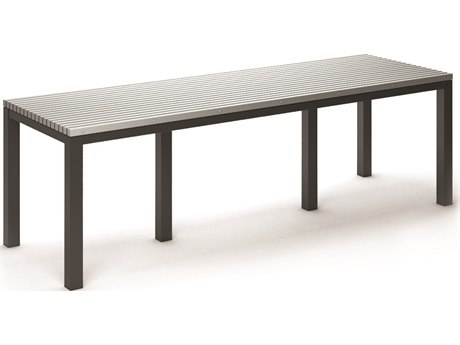 Homecrest Eden Aluminum 110''W x 35.5''D Rectangular Counter Table HC2634110