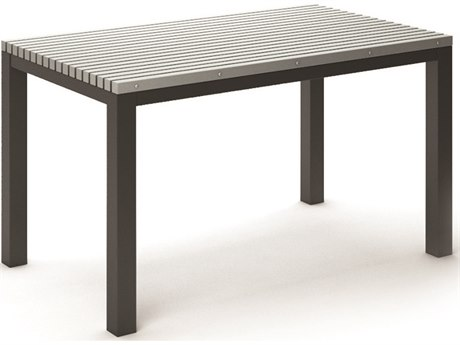 Homecrest Eden Aluminum 60''W x 35.5''D Rectangular Counter Table