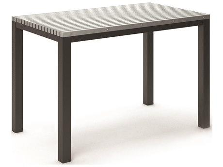 Homecrest Eden Aluminum 60''W x 35.5''D Rectangular Bar Table