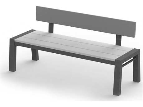 Homecrest Maddox Aluminum 64''W x 22''D Bench with Back