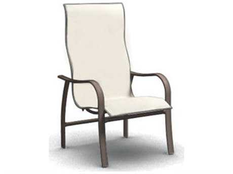 Homecrest Holly Hill Sling Aluminum High Back Arm Dining Chair