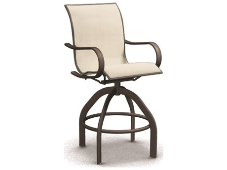 Homecrest Holly Hill Sling Aluminum Arm Swivel Bar Chair