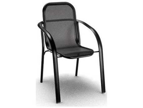 Homecrest Florida Mesh Aluminum Arm Stackable Dining Chair