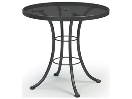 ... Homecrest Mesh Aluminum 30 Round Bistro Table With Umbrella Hole