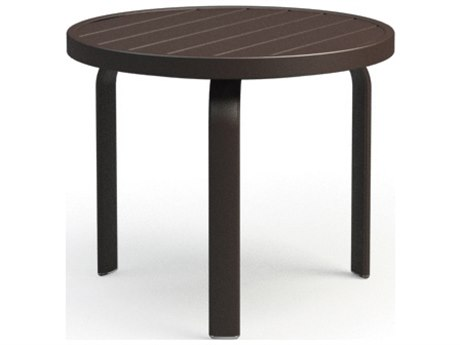 Homecrest Breeze Aluminum 24 Round End Table