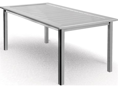 Homecrest Dockside Aluminum 64 x 32 Rectangular Cafe Table