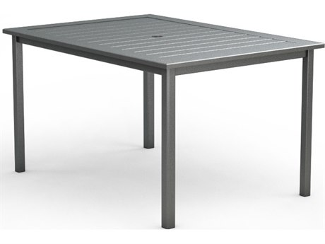 Homecrest Dockside Aluminum 44 x 62 Rectangular Counter Table with Umbrella Hole