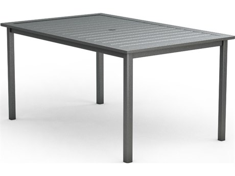 Homecrest Dockside Aluminum 44 x 70 Rectangular Counter Table with Umbrella Hole