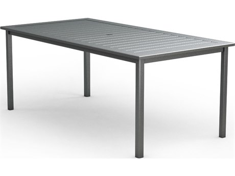 Homecrest Dockside Aluminum 44 x 87 Rectangular Counter Table with Umbrella Hole