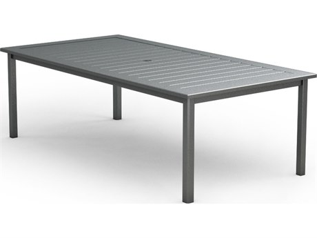 Homecrest Aluminum 44 x 87 Rectangular Dining Table with Umbrella Hole