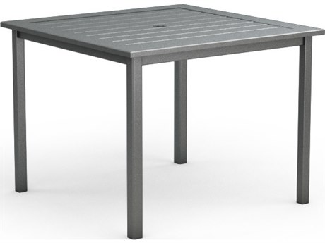 Homecrest Dockside Aluminum 45 Square Counter Table with Umbrella Hole PatioLiving