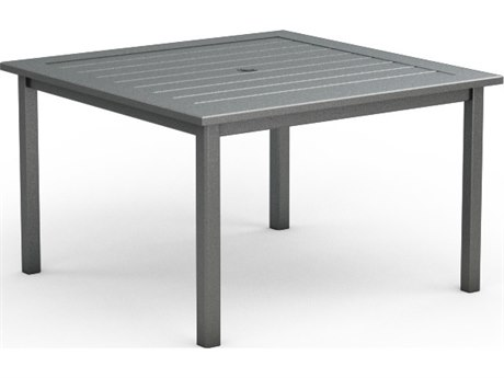 Homecrest Dockside Aluminum 45 Square Dining Table with Umbrella Hole