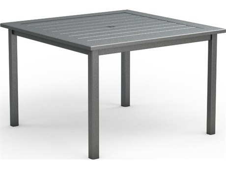 Homecrest Dockside Aluminum 45 Square Cafe Table with Umbrella Hole