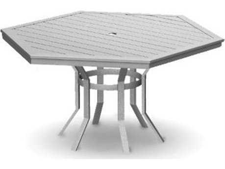 Homecrest Dockside Aluminum 62 Hexagon Balcony Table with Hole